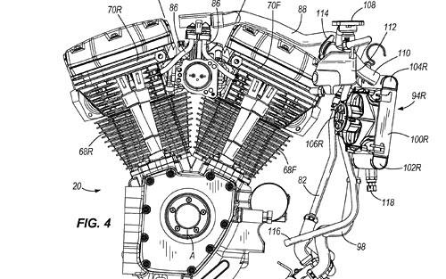 水冷式エンジン